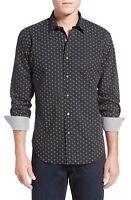 BUGATCHI Shaped Fit Print Sport Shirt NWT Black White NWT