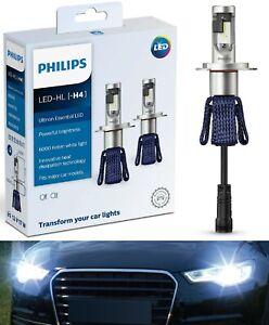 Philips Ultinon LED Kit 6000K White H4 Two Bulbs Head Light High Low Beam Lamp