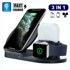 3in1 Qi Wireless Charger Stand Fast Charging For Apple Watch For Airpods Pro