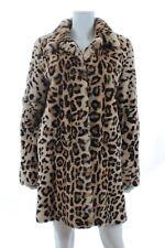 Yves Salomon Meteo Leopard Printed Rex Rabbit Fur Coat / Brown Leopard
