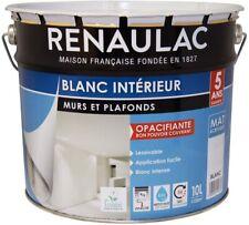 Renaulac Peinture intérieur Murs Plafonds Bicouche Acrylique Blanc Mat 10L - 100
