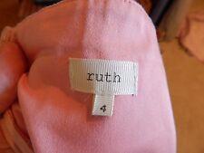 Anthropologie  RUTH Strapless Pink Polished Cotton Sheath Dress 4 CUTE Tie/Sash
