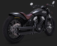 VANCE AND HINES TWIN SLASH SLIP-ONS EXHAUST INDIAN SCOUT 69 60 BOBBER(2015-2018)