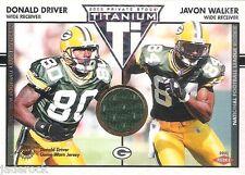 Donald Driver Javon Walker 2002 Titanium Rookie Game Used Jersey #127 (#2/150)