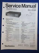 Technics SA-4046 Receiver Service Manual Factory Original The Real Thing