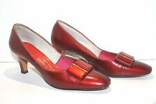 Vintage Miss America by Smartaire Elastomer Candy Apple Red Pumps 6.5 6 1/2 Aa
