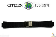 Citizen CA0448-08E Black Rubber Watch Band Strap w/ Deployment Buckle 4-S084334