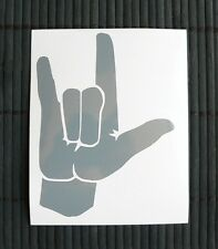 adesivo mano dita sticker decal vynil vinile auto moto car fingers hand rock