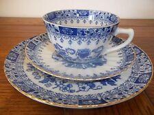 """tasse , soucoupe et assiette  en porcelaine fine ,bleue,""""""""santa clara vigo"""""""