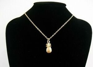 Golden Pineapple Pendant Necklace 18 inch chain Gift Boxed