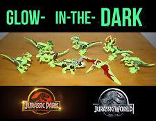 Glow in the Dark! 8 Dinosaurs fit Lego Jurassic World Dinosaur Park Trex Dino