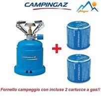FORNELLO A GAS CAMPING STOVE 206  DA 1200W CAMPINGAZ CAMPEGGIO + 2 CARTUCCE GAS
