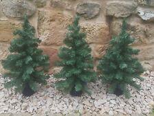 3x Weihnachtsbäume 65x33 cm Deko Weihnachtsbaum künstlich Bäumchen stabil grün