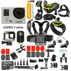 GoPro HERO3 White Edition Action Camera Built-In W-Fi With 40 PCS Accessory Kit