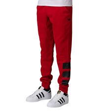 BNWT ADIDAS ORIGINALS 3 BAR JOGGER PANTS FOR MENS RED AI5031 SLIM FIT SIZE SMALL