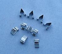 (2360 / 321) 10x Blech Klemme Metall Halterklammern Steckklammer für Audi Skoda