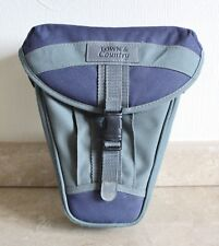 Large Town & Country Camera Pouch for SLR, DSLR, CSC - Grey & Blue.