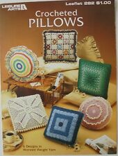 Leisure Arts Crocheted Pillows 6 Designs Worsted Weight Yarn Crochet Pattern
