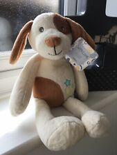 TESCO WITH LOVE CREAM & BROWN PUPPY DOG SOFT TOY *RARE!*