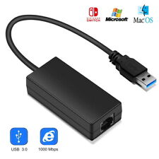 For Nintendo Switch Wii PC/MAC OS 1000Mbps USB 3.0 LAN Adapter Internet Ethernet