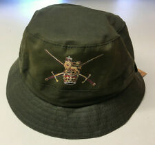 Green Wax Bush Hat, size 58, Army badge, new