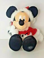 Disney Store Exclusive Santa Mickey with Present Sack 40cm Soft Plush Toy - HTF