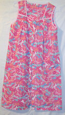 WOMENS PINK SLEEVELESS Patio Floral Mumu Lounge House Dress Size S