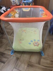 Box per neonati Brevi Soft & Play Green Farm.Usato Pochissimo,colore Arancione.