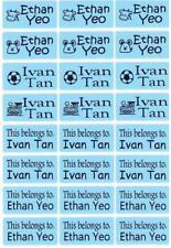 72 BLUE Custom Waterproof Name Labels-SCHOOL,NURSERY(Buy 5 get 1 FREE)