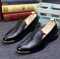 Men oxford dress formal party pull on loafer leather leisure shoes Moccasins hot