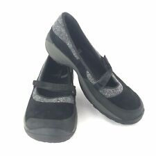Merrell ENCORE EMME Womens Size 8 M Black Nubuck Leather Mary Jane Slip-Ons