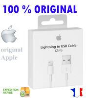 CABLE LIGHTNING USB ORIGINAL APPLE 2M pour iphone 5/5c/5s/6/6 plus/ipod/ipad