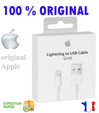 CABLE LIGHTNING USB ORIGINAL APPLE 2M pour iphone 5/5c/5s/6/6 plus/ipod/ipad