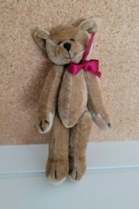 "VINTAGE 4"" Miniature VELOUR JOINTED BROWN BEAR"