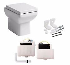 Tavistock Q60 460mm Compact Short Projection Back To Wall Pan Toilet + Cistern