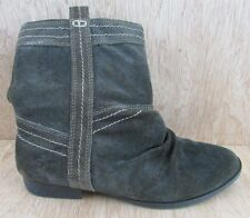 Skechers Boots Size 7 Western Cowboy Slouch Ankle Boots 47281 Suede
