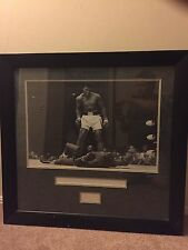 """MUHAMMAD ALI SIGNED POSTER OVER LISTON 25"""" x 18"""" FRAMED WITH COA"""