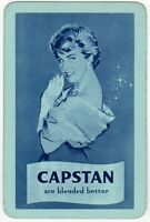 Playing Cards 1 Swap Card Old Vintage Wills CAPSTAN Cigarettes SMOKING Girl Lady