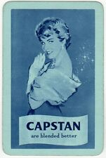 Playing Cards 1 Single Swap Card Old Wills CAPSTAN Cigarettes SMOKING Girl Lady