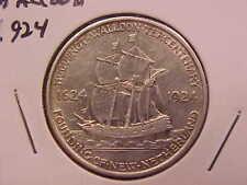 1924 HUGUENOT WALLOON HALF DOLLAR - CLEANED - AU - SEE PICS! - (X1980)