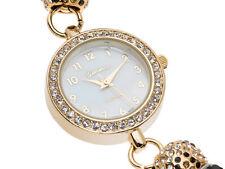 Geneva Multi Color Crystal Gold Tone Ladies Beaded Watch