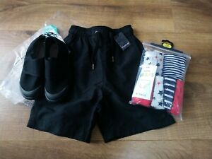 BNWT Firetrap swim shorts, underwear knickers and school plimsoles UK 12/ 7-8 y