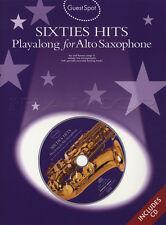 Anni SESSANTA HITS Playalong per alto sassofono sax Spartiti Musicali LIBRO CON CD