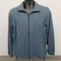 Orvis Women's Jacket Size Small Full Zip Blue Check