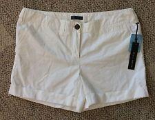 Willi Smith Womens Shorts Creamy White Size 12 Cuff Hem C806