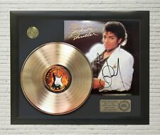 "MICHAEL JACKSON - THRILLER GOLD LP LTD FRAMED SIGNATURE DISPLAY ""M4"""