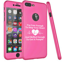 For iPhone 360° Thin Slim Hard Case Cover + Screen Protector Cute Skilled Nurse