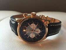 BREITLING TRANSOCEAN CHRONOGRAPH UNITIME ROSE GOLD RB0510U4/BB63-760P