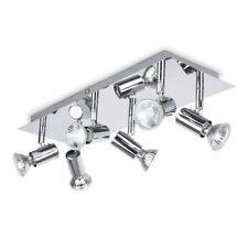 Modern Rectangular Silver Chrome 6 Way Adjustable Gu10 Ceiling by MiniSun