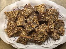 Delicious! Homemade Cashew Toffee With REAL MILK CHOCOLATE 2 Lbs. English Toffee